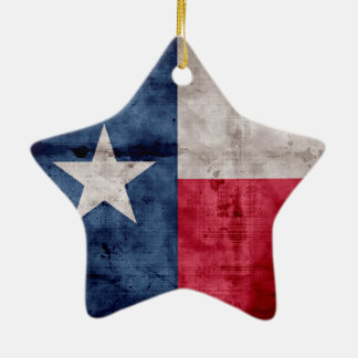 Weathered Vintage Texas State Flag Ceramic Ornament