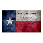 Weathered Vintage Texas State Flag Double-Sided Standard Business Cards (Pack Of 100)