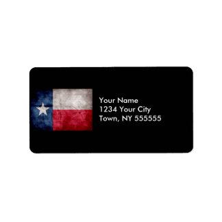 Weathered Vintage Texas State Flag Label