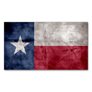 Weathered Vintage Texas State Flag Magnetic Business Card