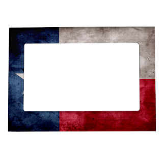 Weathered Vintage Texas State Flag Magnetic Photo Frame