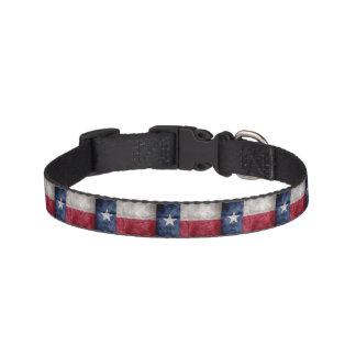 Weathered Vintage Texas State Flag Pet Collar