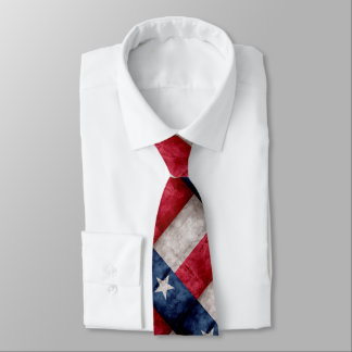 Weathered Vintage Texas State Flag Tie