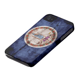 Weathered Virginia Flag iPhone 4 Case-Mate Case