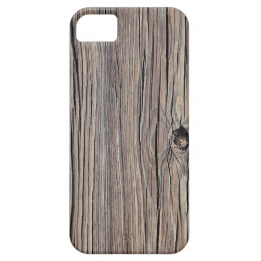 Weathered Wood Background - Customized iPhone 5 Cover