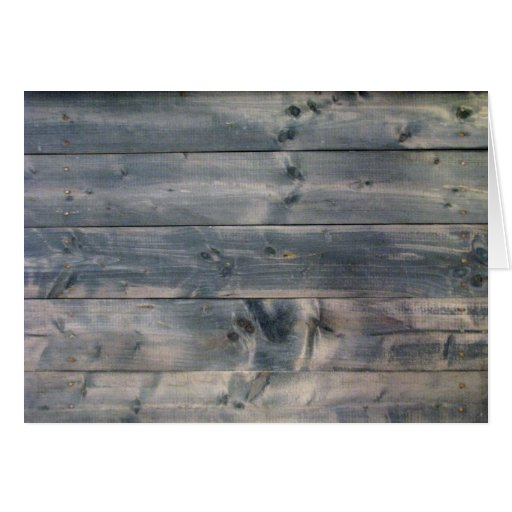 Weathered Wood Blank Note Card 2