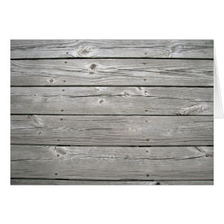 Weathered Wood Blank Note Card 4