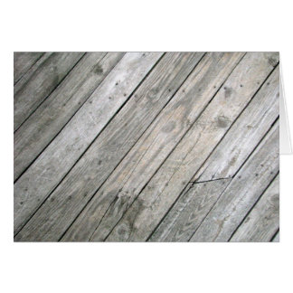 Weathered Wood Blank Note Card 5