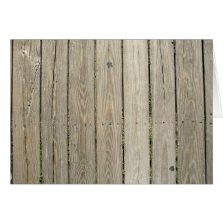 Weathered Wood Blank Note Card 8