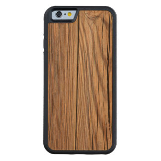 Weathered Wood Board Background Texture Carved Cherry iPhone 6 Bumper Case