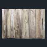 "Weathered Wood Boards from a Rustic Country Dock Cloth Placemat<br><div class=""desc"">Detailed photograph of weathered old boards on a dock.  Shows wood grain,  knots,  and aging in these beautiful boards that have been exposed to sun,  moisture and salt for many years. The patina of nature gives this wood a rustic appeal.</div>"