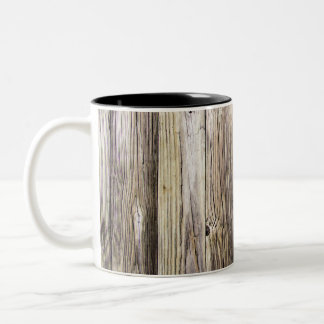 Weathered Wood Boards from Old Country Dock Two-Tone Coffee Mug