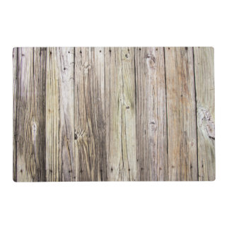 Weathered Wood Boards with Natural Rustic Patina Placemat