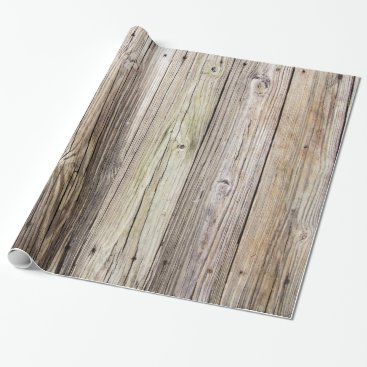 ICandiPhoto Weathered Wood Boards Wrapping Paper
