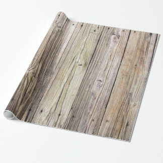 Weathered Wood Boards Wrapping Paper