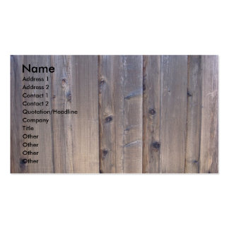Weathered Wood Fence Double-Sided Standard Business Cards (Pack Of 100)