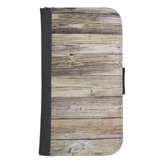 Weathered Wood from Rustic Old Country Dock Galaxy S4 Wallet Case