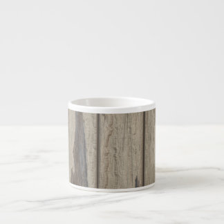 Weathered Wood Grain Pattern Espresso Cup