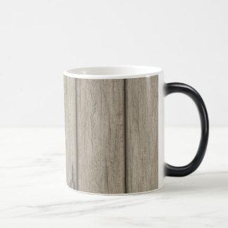 Weathered Wood Grain Pattern Magic Mug