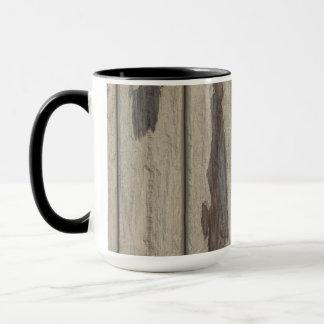 Weathered Wood Grain Pattern Mug