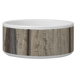 Weathered Wood Grain Pattern Dog Food Bowls