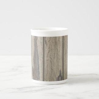 Weathered Wood Grain Pattern Bone China Mugs