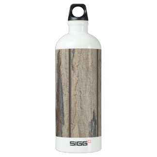 Weathered Wood Grain Pattern Water Bottle