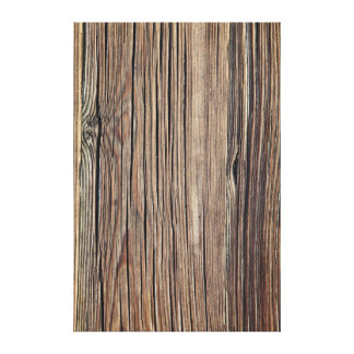 Weathered Wood Grain Plank Background Template Canvas Print