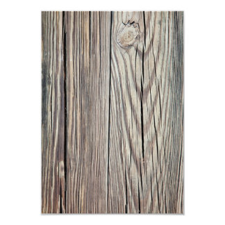 Weathered Wood Grain Plank Background Template Card