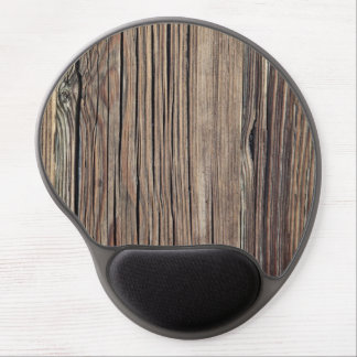 Weathered Wood Grain Plank Background Template Gel Mouse Pad