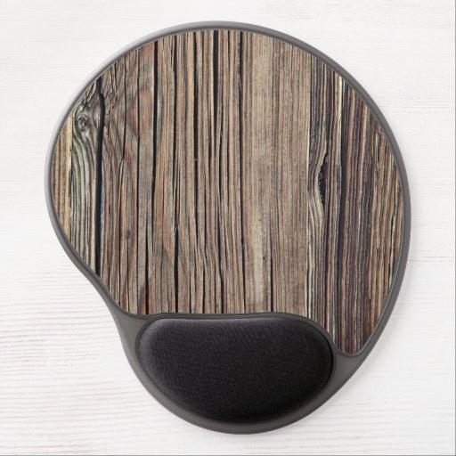 Weathered Wood Grain Plank Background Template Gel Mousepad
