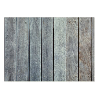 Weathered Wood Grain Plank Background Template Large Business Card