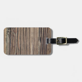 Weathered Wood Grain Plank Background Template Luggage Tag