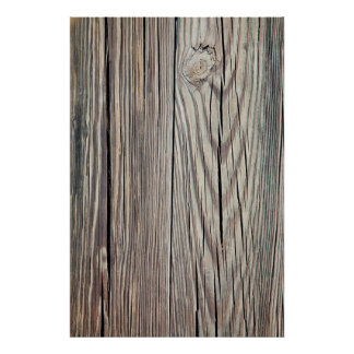 Weathered Wood Grain Plank Background Template Posters