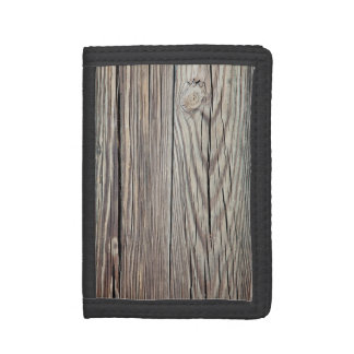 Weathered Wood Grain Plank Background Template Trifold Wallet