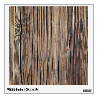 Weathered Wood Grain Plank Background Template Wall Sticker