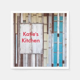 Weathered wood - Katie's Kitchen Paper Napkin
