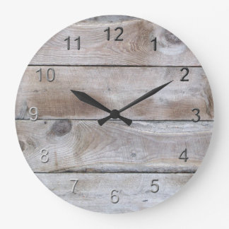 Weathered Wood Large Clock