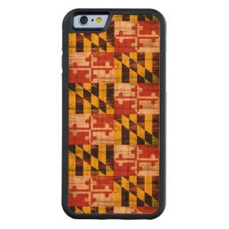 Weathered wood Maryland flag iphone 6 cherry case