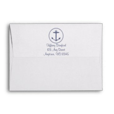 Beach Themed Weathered Wood | Nautical Anchor| Wedding Envelope