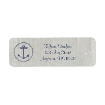 Beach Themed Weathered Wood Nautical | Personalized Label