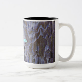 Weathered Wood Piling Two-Tone Coffee Mug