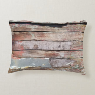Weathered Wood Plank Rustic Photo Accent Pillow