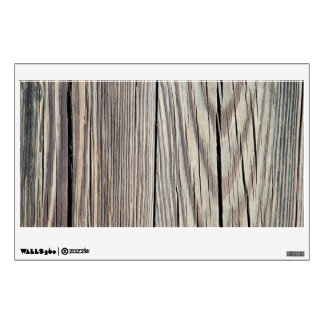 Weathered Wood Plank w Grain Background Template Wall Graphic
