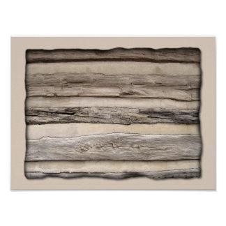 Weathered Wood Planks Posters