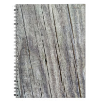 Weathered Wood Planks Texture Pattern Notebook
