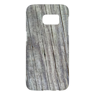 Weathered Wood Planks Texture Pattern Samsung Galaxy S7 Case