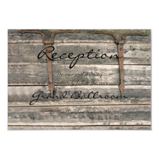 Weathered Wood Reception Card