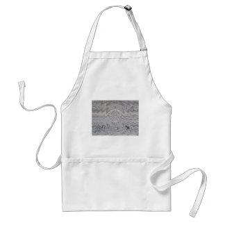 weathered wood ripple adult apron