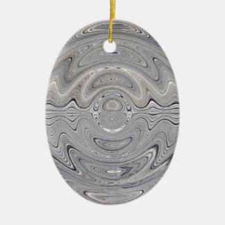 weathered wood ripple ceramic ornament